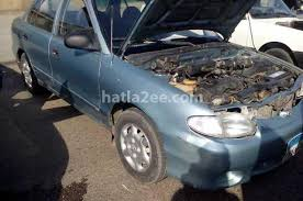 hyundai accent 2001 for sale accent hyundai 2001 suez cyan 1586712 car for sale hatla2ee