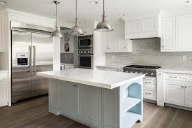 backsplashes for white kitchens white kitchen cabinets with gray brick tile backsplash