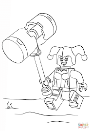 lego harley quinn coloring page free printable coloring pages