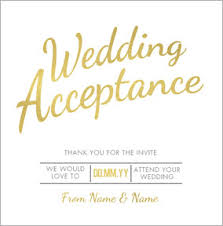 wedding rsvp luxe affair wedding acceptance funky pigeon