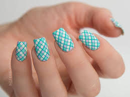 paint all the nails presents pastel geometric nail art with floss