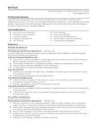 Police Officer Resume Example by Police Sergeant Resume Free Resume Example And Writing Download