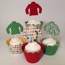 Images Of Ugly Christmas Sweater Parties - amazon com ugly sweater christmas cupcake toppers set of 12