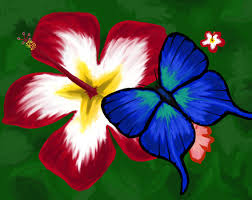mod the sims hibiscus flower with blue butterfly