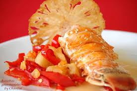 comment cuisiner la langouste l ananas s invite chez le salé langouste et chutney ananas