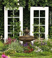 Backyard Garden Decor Recycling Old Wooden Doors And Windows For Home Decor