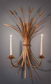 Amazon Candle Sconces Amazon Com Wheat Candle Sconce In Antique Gold Set Of 2 Home