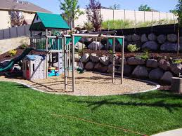 Exterior  Backyard Playground Equipment Brown Backyard - Backyard playground designs