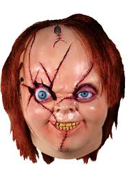 Chucky Halloween Costumes Trick Or Treat Bride Of Chucky Horror Movie Halloween Costume Mask