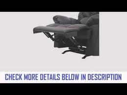 homcom pu leather rocking sofa chair recliner black youtube
