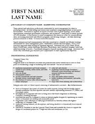 Coordinator Resume Examples by Marketing Coordinator Resume Template Premium Resume Samples
