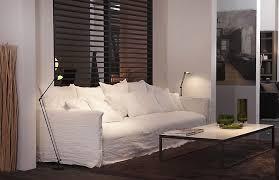 canap tissu blanc canapé en tissu fixe photo 5 10 un canapé en tissu blanc devant