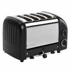 Dualit Sandwich Toaster Dualit 4 Slice Newgen Toaster Matte Black