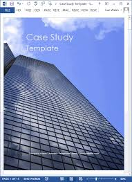case study templates 19 x ms word how to write tutorial