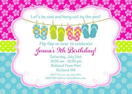 pool party birthday invitations pool birthday party invitations