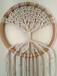 tree of large macrame wall hanging circle woven wall