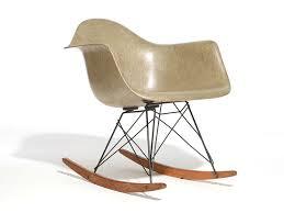 eames rocker eamesâ molded plastic armchair with rocker base