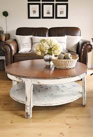 Coffee Table With Leather Sofa Cottage Style Home Pinterest