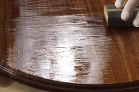how to finish a table top with polyurethane rub a polyurethane top coat to perfection wood magazine