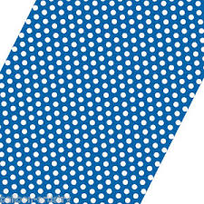 blue wrapping paper 5ft roll blue white polka dot spot style party gift wrap wrapping