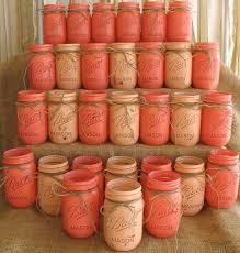 Ball Jar Centerpieces by 30 Mason Jars Ball Jars Painted Mason Jars By Theshabbychicwedding