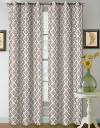 Victoria Classics Curtains Grommet by 32 Hotel Quality Silver Grommet Top Faux Silk 1 Panel Taupe Tan