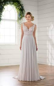 chiffon wedding dress boho chiffon wedding gown essense of australia