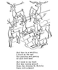 holiday santa u0027s reindeer coloring pages