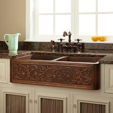 copper apron front sink lowes kitchen copper sink wooden lamainted floor centerpiece table