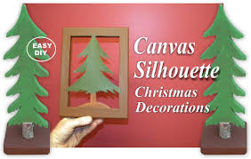 diy easy canvas silhouette christmas decorations youtube