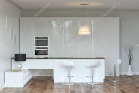 cuisine high tech blanc cuisine hi tech avec bar photographie viz arch 26521517