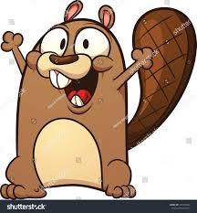 cute cartoon beaver vector illustration simple stock vector