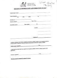 Repair Estimate Template by Download Auto Body Repair Forms Free Download Rabitah Net