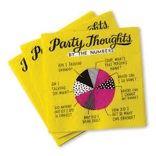 party thoughts cocktail napkins pack of 20 emily mcdowell studio