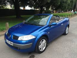 blue renault megane convertible 1 9 diesel 2005 thinkcar