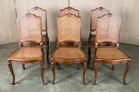 lolo french antiques french louis xv style cane dining chairs set