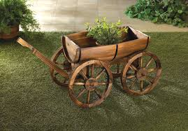 barrel planter wagon