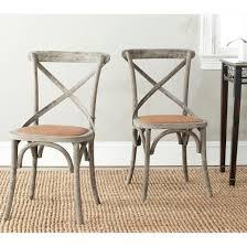 Metal Wood Chair Franklin Ferrat X Back Dining Chair Wood Walnut Set Of 2