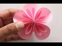 cara membuat bunga dengan kertas hias gang dan mudah membuat bunga dari kertas youtube