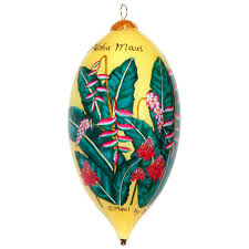 pink heliconia ornament maui by design