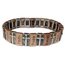 multi metal bracelet images Multi metal faith hope love cross bracelet jpeg