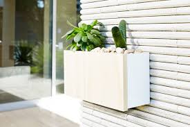 White Wall Planter by Wall Planter Boxes