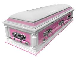 pink casket solid wood american casket with pink contrast