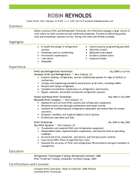 Examples Of Strong Resumes by Best Hvac And Refrigeration Resume Example Livecareer