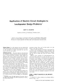 aes e library application of electronic circuit analogies to