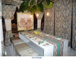fine dining tabletop exhibit showcases top interior designers