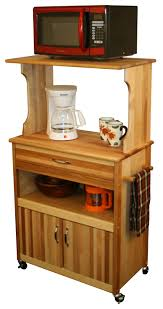 catskill craftsmen microwave cart with open enclosed storage model