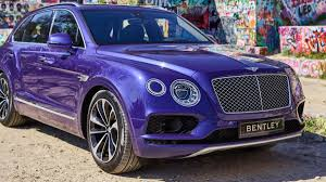 purple bentley mulsanne the 2017 bentley bentayga is way too ridiculous and way too fast not