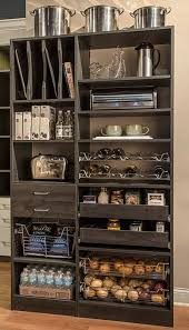 Pull Out Pantry Cabinets Simple Pantry Closet Wall With Pull Outs And Pantry Shelves