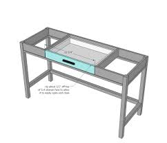 how to build a table with drawers ana white desks that convert to table for our tiny house on wheels